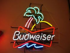 Budweiser Palm Neon Sign